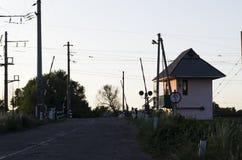 Железнодорожный переезд стоковое изображение rf