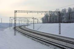 железнодорожный поворот дороги Стоковое Изображение RF