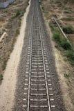 железнодорожный прямой след стоковая фотография rf