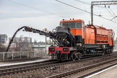 железнодорожный ремонт Стоковое Изображение