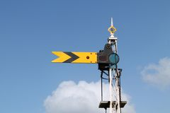 Железнодорожный сигнал поезда. Стоковое фото RF