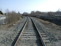 Железнодорожный след стоковое фото