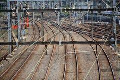 железнодорожный ярд Стоковая Фотография