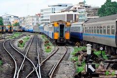 железнодорожный ярд стоковое фото