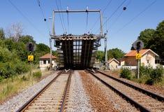 Железнодорожный Drawbridge стоковые изображения