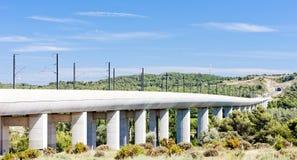 Железнодорожный viaduct для TGV Стоковые Фотографии RF