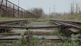 Железнодорожная стрелка сток-видео