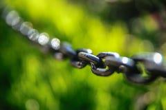 Железные звенья цепи Стоковые Фотографии RF