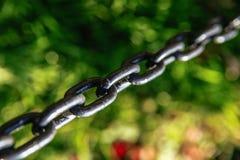 Железные звенья цепи Стоковое Изображение