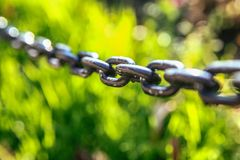 Железные звенья цепи Стоковые Изображения RF