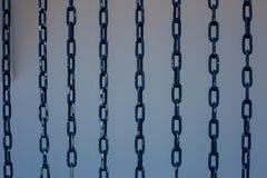 Железные стальные цепи прочности стоковое изображение rf