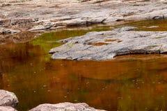 Железный богатый бассейн воды в северной Минесоте стоковые изображения rf