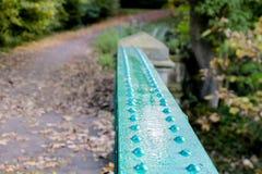 Железный мост показывая заклепки металла Стоковое Изображение RF