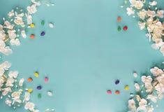 Желейные бобы и флористическая предпосылка стоковое изображение