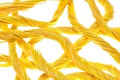 Желтая абстрактная компьютерная сеть Стоковая Фотография RF