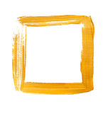 Желтая акриловая квадратная рамка Стоковое Изображение RF