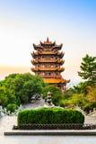 Желтая башня крана в Ухань, Китае Стоковое Фото