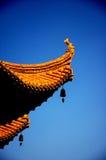 Желтая башня крана в Wuchang Стоковая Фотография