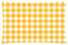 Желтая & белая checkered ткань кухонного стола иллюстрация штока