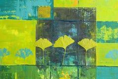 Желтая и голубая картина бесплатная иллюстрация