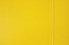 Желтая кожаная текстура стоковые фото