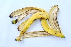 Желтая корка банана от еды Стоковое Изображение RF