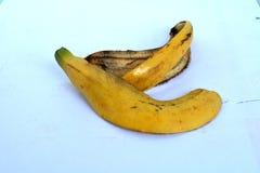 Желтая корка банана от еды Стоковое Фото