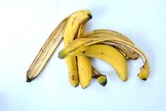 Желтая корка банана от еды Стоковые Изображения RF