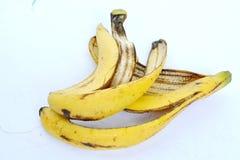 Желтая корка банана от еды Стоковые Изображения