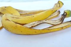 Желтая корка банана от еды Стоковые Фото