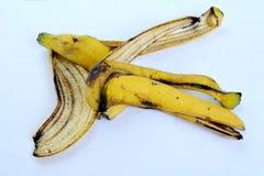 Желтая корка банана от еды Стоковая Фотография RF