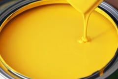Желтая краска стоковые фотографии rf