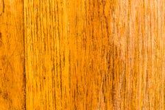 Желтая покрашенная старая естественная деревянная текстурированная доска справляющся предпосылка Поверхность древесины дуба для д стоковая фотография