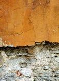 Желтая предпосылка стены Стоковое Изображение
