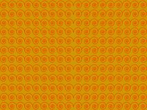 Желтая предпосылка с красной картиной Стоковая Фотография RF