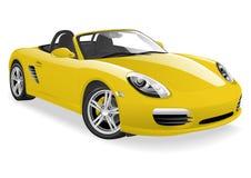 Желтая спортивная машина иллюстрация штока