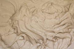 Желтая текстура cream свирли для использования как предпосылка Стоковые Фото