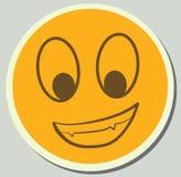 Желтая улыбка шаржа Стоковое фото RF