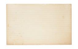 желтеть индекса карточки старый стоковое фото