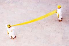 Желтое платье тюрбанов стоковое фото rf