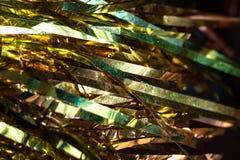 Желтое украшение рождества для ели, текстуры или предпосылки Стоковые Изображения RF