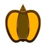 Желтое яблоко стоковые изображения rf