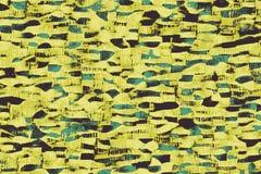 Желтые африканские ткани с картинами и покрашенными текстурами иллюстрация вектора