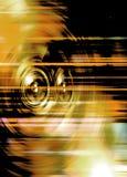 Желтые дикторы музыки Стоковые Фотографии RF