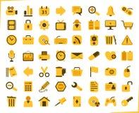 Желтые иконы Стоковая Фотография