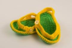 Желтые и зеленые добычи Стоковые Фото