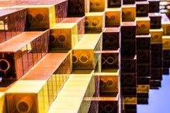 Желтые и коричневые части lego Стоковое фото RF