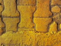 Желтые каменные слябы мостоваой, современный внутренний дизайн текстуры Стоковая Фотография