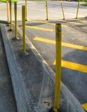 Желтые линии движения стоковое фото rf