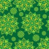 Желтые мандалы на зеленой предпосылке Стоковая Фотография